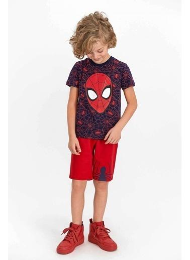 Spider-Man Spider Man Lisanslı Jel Eyes Kırmızı Erkek Çocuk Bermuda Takım Lacivert